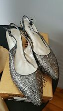 Bridal shoes. Lady couture pewter women's shoes in size 41