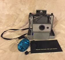 VTG Polaroid Automatic 103 Instant Land Camera with Case Manual and Flash Photo