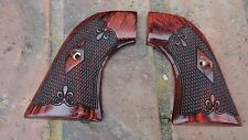 RUGER NEW MODEL VAQUERO ONLY SUPER ROSEWOOD GRIPS DE FLEUR CHECKERED SLIMLINE