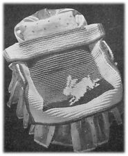 Babies' 1940s 3 Ply Bunny Rabbit Motif Cot Cover Crochet Pattern 10054