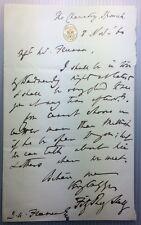 "Sir Fitzroy Kelly -  ""Apple-pip"" - Attorney General - original 1860 letter"