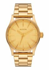 Nixon Sentry 38 SS Watch All Gold NEW in box