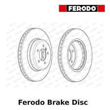 Ferodo Front Brake Disc (Pair) - 348mm, Vented - DDF1701 - OE Quality