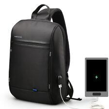 Single Strap Backpack Messenger Anti-Theft Shoulder USB Port Charger Laptop Bag#