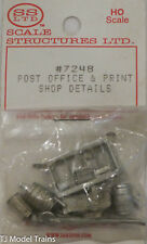 SS Ltd. HO #7248 Post Office & Print Shop Details (Cast Metal)
