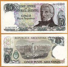 ARGENTINA 1983-1984  UNC 5 Pesos Argentinos Banknote Paper Money Bill P- 312a(1)