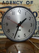 VINTAGE IBM 13 INCH WALL INDUSTRIAL SCHOOL CLOCK 93996 RARE NR