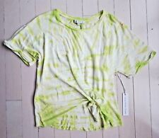 Young Fabulous & Broke Women's Front Tie Dye Top Lime Large