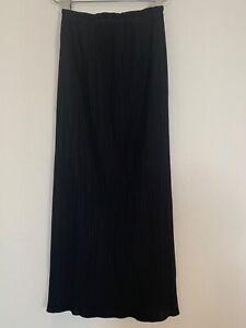 Issey Miyake Black Skirt please  pleats Tille 2  Jupe Noir