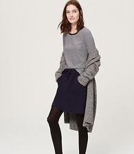 Ann Taylor LOFT - L - NWT  - B&W Striped Long Sleeve Tee - 100% Cotton Knit Top