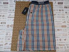 HUGO BOSS Casual Short Blue Gingham Size Lrg Jersey Nightwear Pant BNWT RRP£40