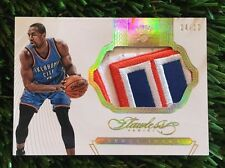 SERGE IBAKA 2014-15 PANINI FLAWLESS JUMBO 3 COLOR GAME USED PATCH #D /10