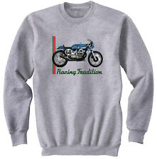 Moto Guzzi Cafe Racer 2-NEUF Coton Gris Sweat-shirt toutes tailles en stock