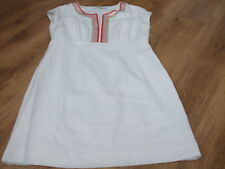 BODEN WHITE NEW LINEN SORRENTO DRESS SIZE 14 PETITE  BNWOT