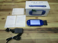 Sony PSP 1000 Console Metallic Blue w/box Japan o700