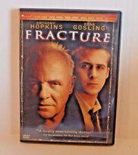 Fracture (DVD, 2007, Widescreen) Thriller Movie w Anthony Hopkins & Ryan Gosling