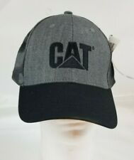 New Caterpillar CAT Equipment Trucker Black & Grey Camo Hat/cap NWT