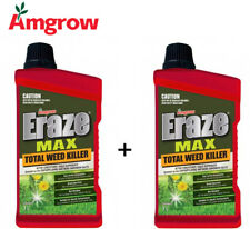 Amgrow Eraze Max Total  Weed Killer (2x 1L Bottles Included) [80120] {R}