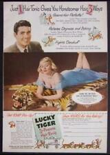 1949 Lucky Tiger Hair Tonic vintage AD *George Hurrell Pin-Up*