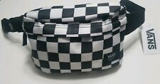 Checkered Black and White Vans Off the Wall Crossbody Bag- Unisex Bum Bag Fanny