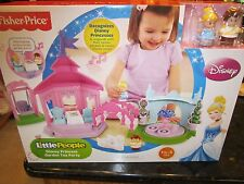 Fisher Price Little People NEW Princess Garden Tea Party Cinderella Charming Box