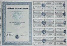 Action - Compagnie Financière MOCUPIA, action de 100 Frs N° 008236