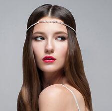 Bridal Hair Jeweled Headpiece Forehead Hobo Bohemian Head Chain headdress