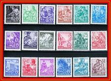 GERMANY-DDR 1953 DEFINITIVES / COMPLETE SET  SC#155-71 MNH CV$116.25