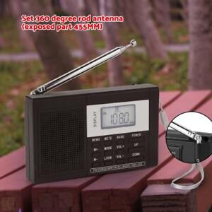 "EXMAX Full Band Digital Demodulation Stereo FM AM SW PLL Radio 1.2"" LCD Receiver"