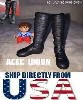 KUMIK FS-20 1/6 Scale Black Widow Catwoman Long Boots BLACK U.S.A. SELLER