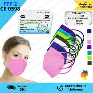 FFP2 Maske Mundschutz 5 Lagig ✅CE PRÜFSTELLE 0598✅Händler aus Deutschland