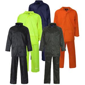 Adults Waterproof Suit Jacket & Trousers Packaway Rain Set Womens Mens Ladies