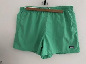 "PATAGONIA Women's XL 5"" Baggies Shorts GREEN"