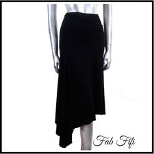 Phase Eight Black Stretch Skirt with Asymmetrical Hemline & Bask Goth Grunge 10