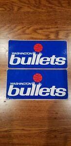 Vintage 1980's Washington Bullets Logo Sticker 7 1/2 x 3 1/2 Inches (x 2)