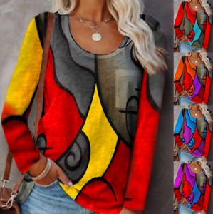 Fashion Women Long Sleeves T-shirt Ladies Sexy Top Blouse Size6-22 E7207