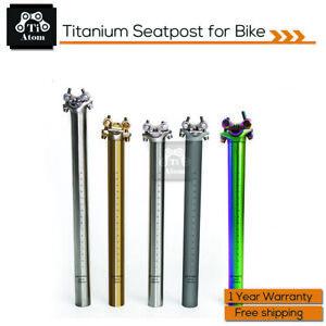 Ti Atom /TitaniumSeatpost  For Bike 27.2/31.6*350mm/400mm
