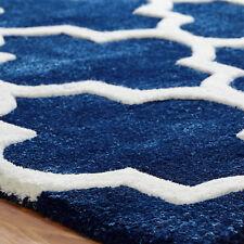 Oriental Weavers Arabesque Rug Runner Hand Tufted Modern Wool and Viscose Blue 160 X 230 Cm