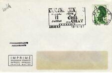 Z373 enveloppe thème Chien & Chat flamme ARRAS fete du Chien et du Chat 1987
