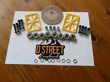 KRYPTONICS ACCESORIES KIT ,RISERS , BEARINGS,DECK BOLTS, SPACERS,SPEED WASHERS