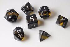 NEW Gem Vine Amber Yellow Poly Dice Set (7) Semi- Translucent New RPG DnD Vines