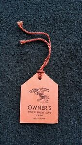 1947 Greyhound Racing White City Complimentary Owners Pass