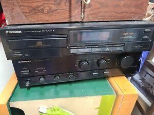 Pioneer A-335 amplifier & PD-4300 Cd Player bundle working 99p start rare black