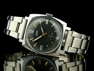 Vintage Soviet Mechanical Wristwatch ZIM 2602 15Jewels POBEDA SERVICED USSR CCCP