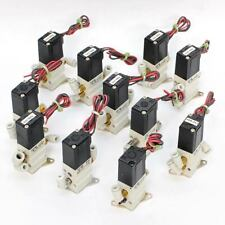 (Lot of 11) SMC NVKF332 Solenoid Air Vacuum Pneumatic Valves 24VDC VKF332