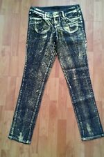 Material Girl Macys NWT Dark Gold Skinny Low Rise Evening Sophisticated Jeans 11