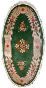 Handmade antique Art Deco Chinese rug 2.6' x 5.2' (81cm x 159cm) 1930s - 1C619