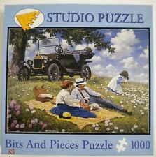 Bits and Pieces John Sloane Model T For Three Jigsaw Puzzle 1000 Pieces COMPLETE
