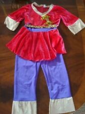 Costume Gallery Dance-FarEast Purple,Red,Gold Top&Pants-Madein Usa-Girl sz 6