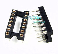 10pcs14Pin DIP SIP Round IC Sockets Adaptor Solder Type gold plated machined New